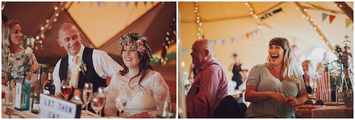 Brooke and Gareth's Colourful and Fun Homemade Tipi Wedding in Hampshire by Honeydew Moments