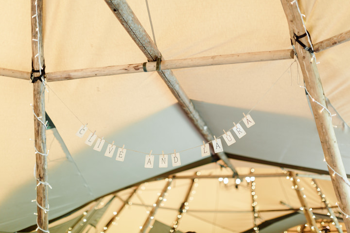 Laura and Clive'sEnglish Country Tipi Wedding in Hertfordshire by Hannah K Photography