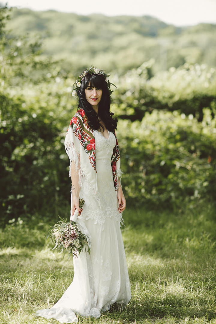 Caroline and Richard's 'Floral Boho' Festival Themed West Sussex Barn Wedding by Paula Gillespies