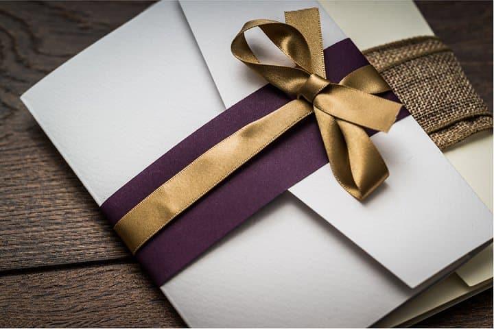 Yellow Pocketfold Card DIY Wedding cards DL Pocket fold wallet invitations
