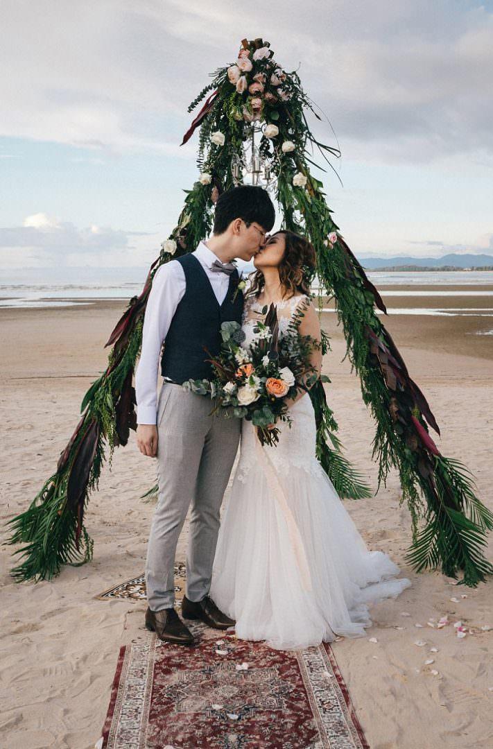 Walter and Running's Intimate Beach Wedding in Thailand by Wedding Boutique Phuket and Avenir Studio