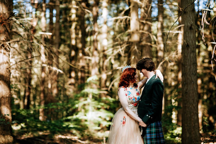 Becca and Jon's 'Pre-Raphaelitism' Colourful Outdoor Glamping Wedding in Yorkshire by One Love