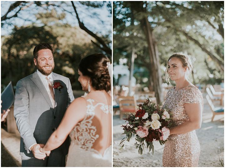 Elizabeth andBrett's Boho Chic Costa Rica Beach Club Wedding by Adri Mendez