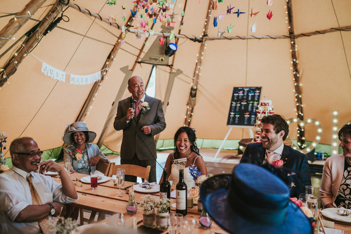 Jennifer and Kevin's 'Adventure and Travel' Themed Outdoor Tipi Wedding in Warwickshire by Will Fuller Photography