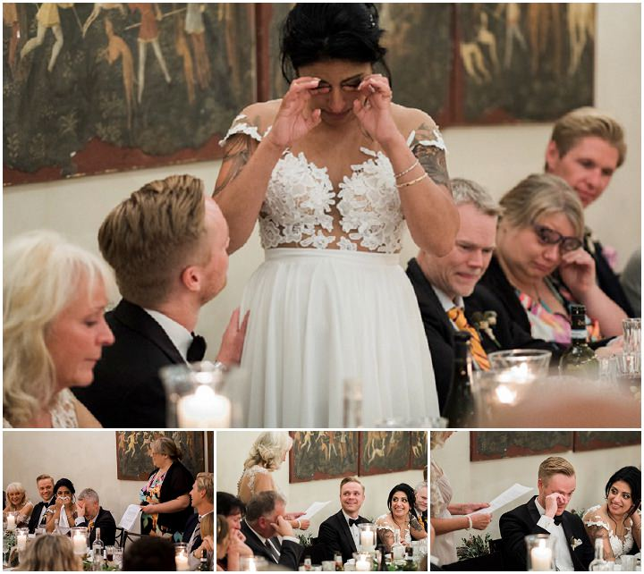 Hina and Joachim's Bright and Beautiful Outdoor Tuscany Weddingby Esther and Gabe