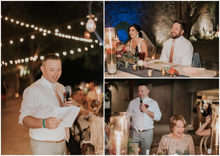 Elizabeth and Brett's Boho Chic Costa Rica Beach Club Wedding by Adri Mendez