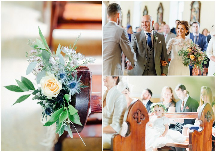 Roisin and Andrew's Country Elegance Pretty Pastel Irish Wedding by Hannah McKernan