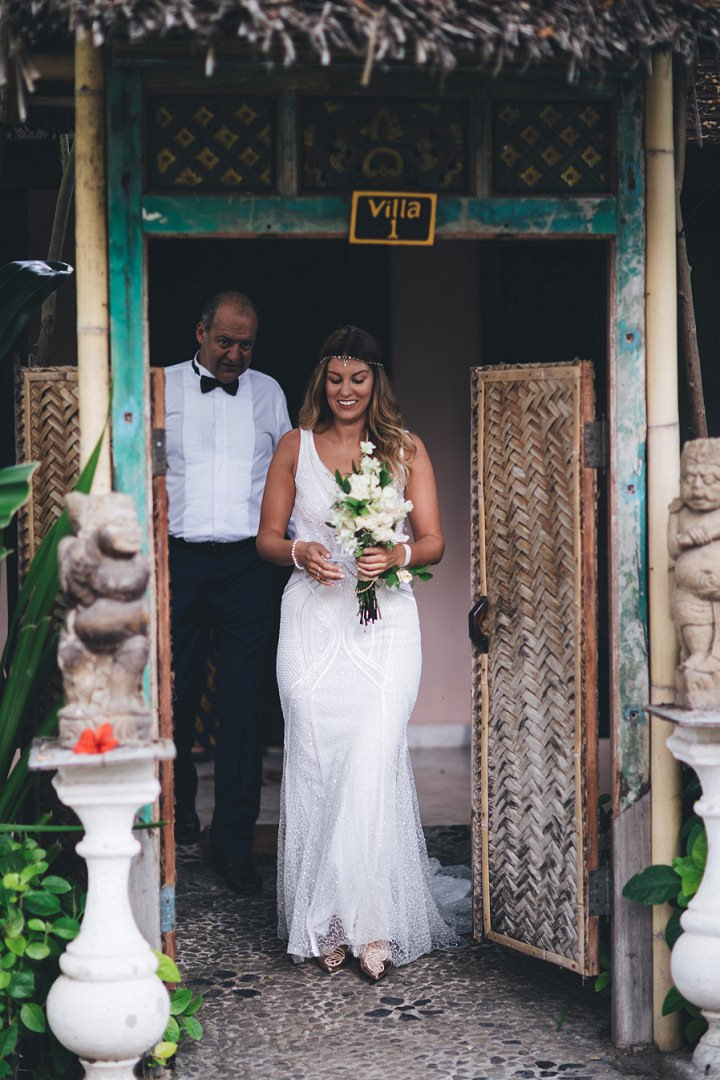 Raana and Richard's Private Beach Elopement in Bali by Mike Plunkett