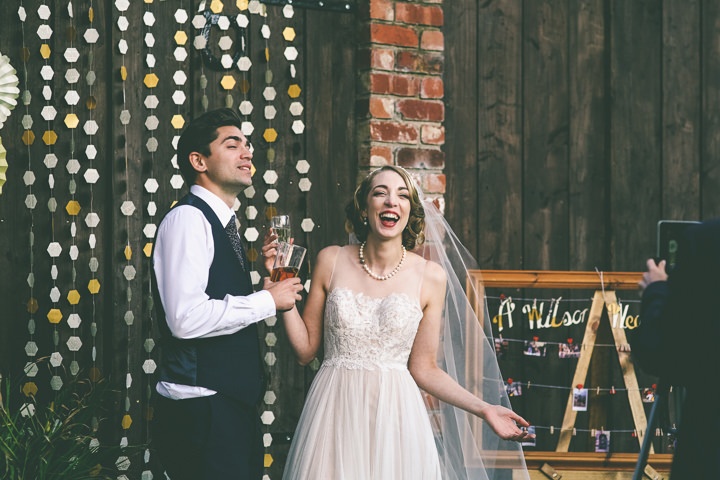 Sarah and Matthew's 'Hand's on' Hot Dog Loving Cinema Wedding by Emma Boileau
