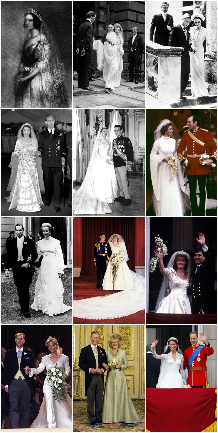 Congratulations Harry and Meghan – A Look at the Royal Wedding Dresses Through the Years.