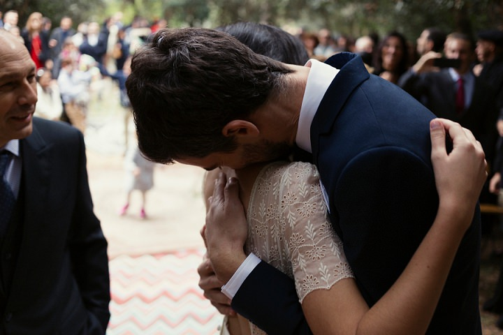 María and Andy's Music Filled Woodland Wedding in Barcelona All Planned in Two Months by Ruben Cruz