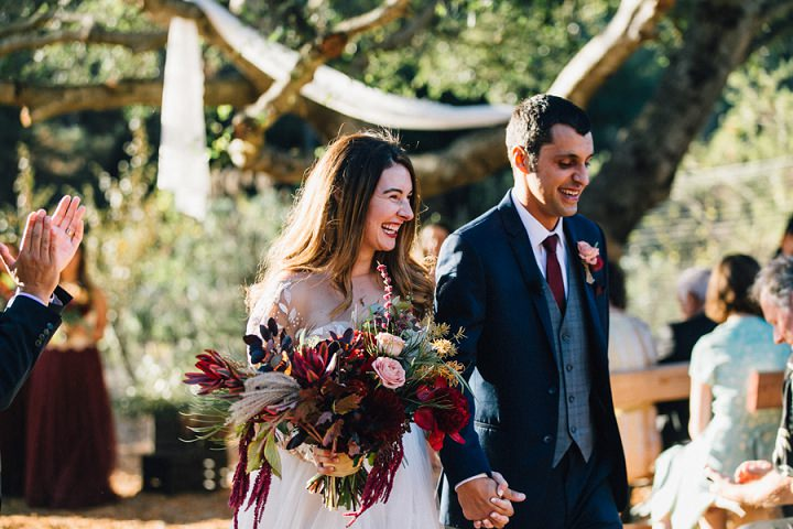 Cassie and Rick's Intimate Modern Backyard California Wedding by Hannah Kate Photography