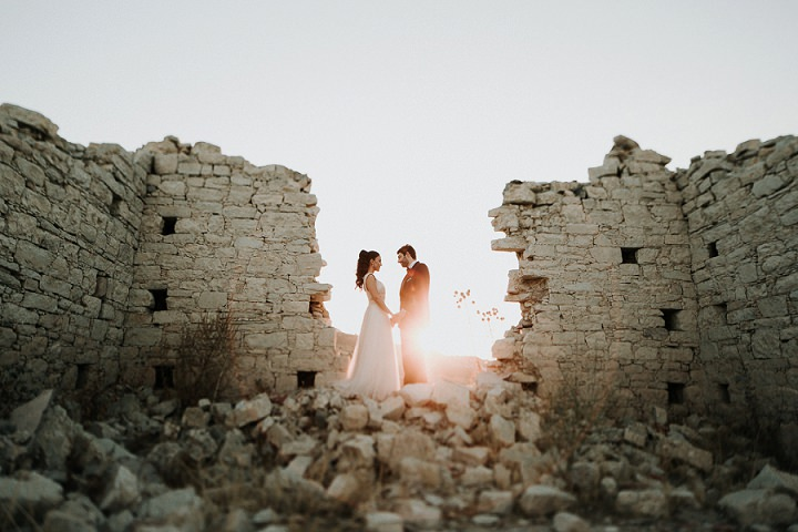 Aristos and Tasia's Elegant Cyprus Boho Wedding at Home with 500 guests by Karina Leonenko