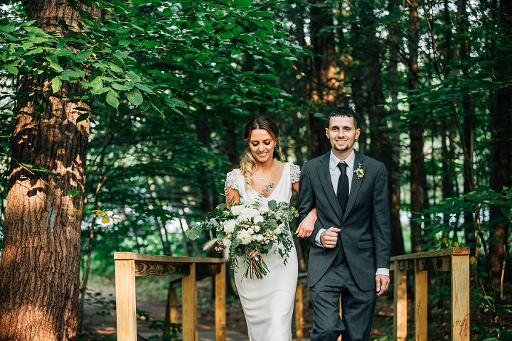 Kristen and Mike's Boho Chic Farm Wedding in Maine by Maine Tinker Photography