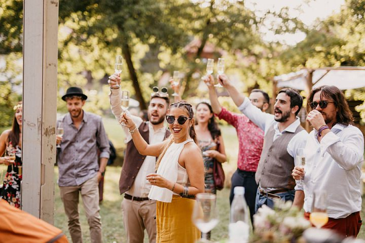Zala and Marco's Festival Themed Free Spirited Wedding in Slovenia by Urška and Domen Photography