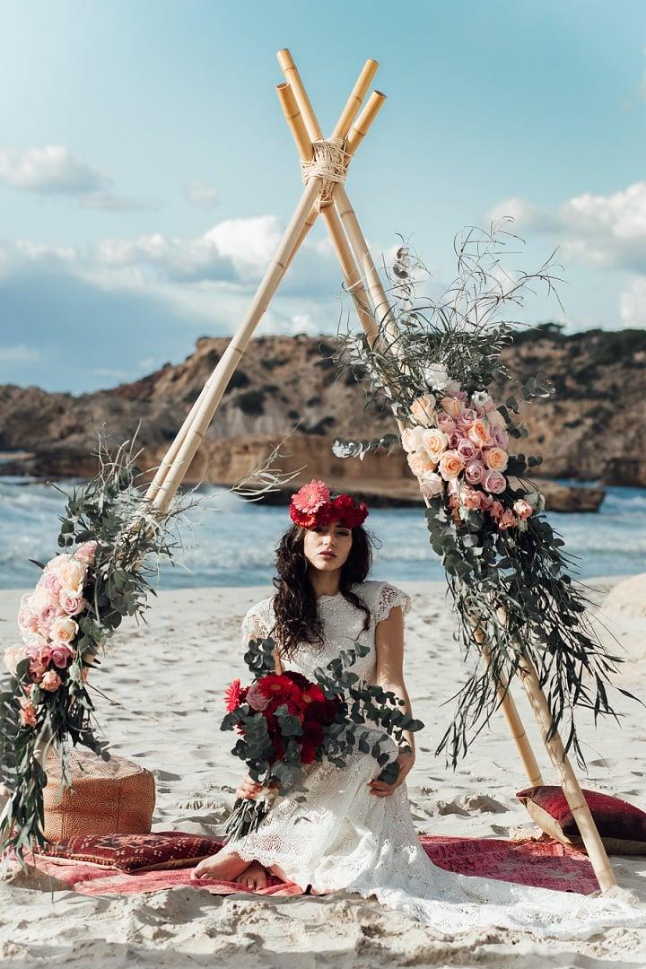 'Lovers Love Loving in Ibiza' Free Spirited Bohemian Beach Wedding Inspiration