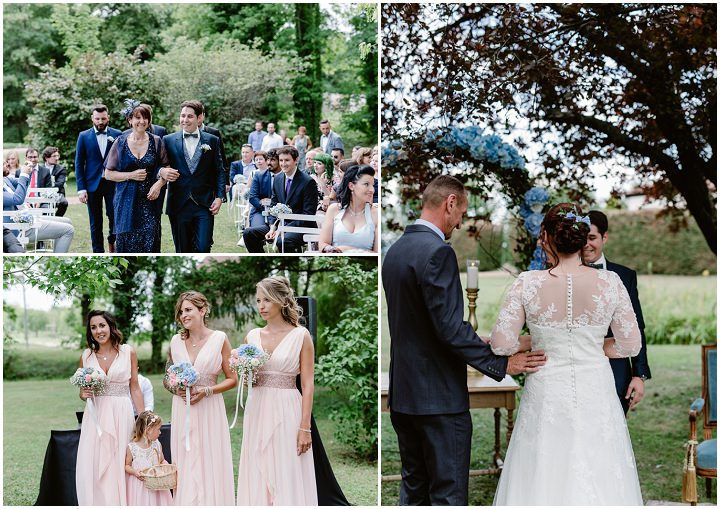 Beatrice and Sébastien's Rose, Blush and Pale Blue Vintage Boho French Chateau Wedding