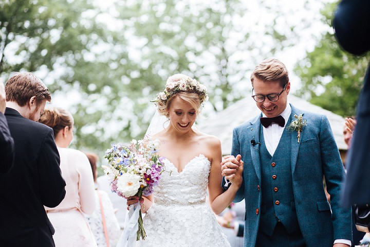 Rebecca and Daniel's Cornflower Blue and Wild Flower Northamptonshire Wedding by Kathryn Edwards Photography