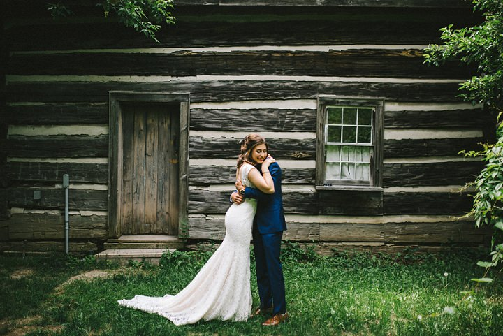 Deanna and Joshua's Rose Gold Rustic Barn Wedding in Toronto by Megan Michelle