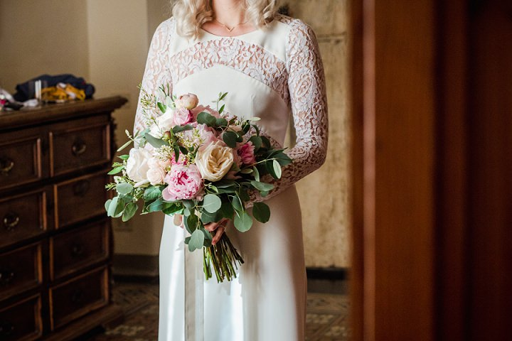 Linda and Giuseppe's Beautiful Flower Filled Outdoor Tuscany Wedding by Duesudue