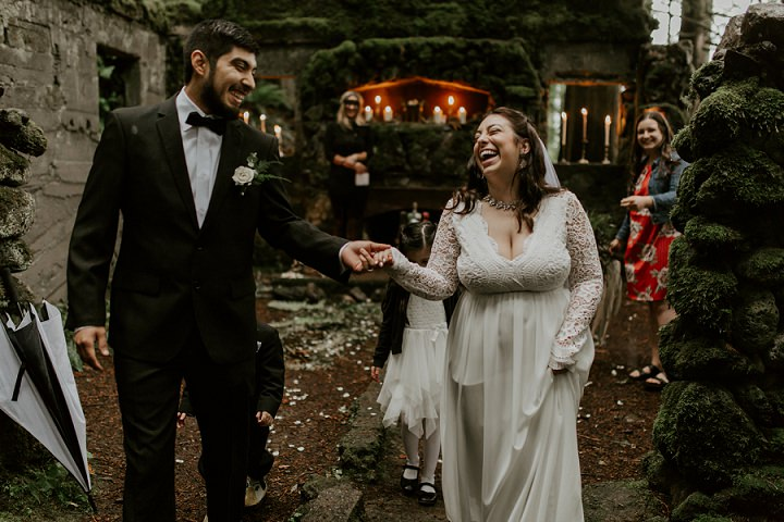 Sarah and Samuel's Rainy Pacific North West Forest Elopement