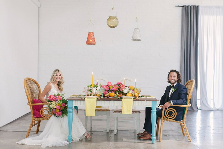 Jaclyn and Philip'sTropical Boho-Glam Downtown Las Vegas Elopement