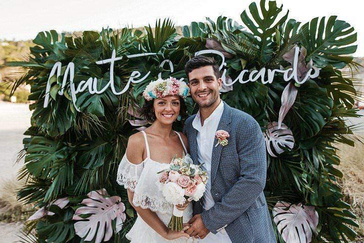 Maite and Ricardo's Natural and Relaxed Beach Side Ibiza Wedding by Sara Lobla
