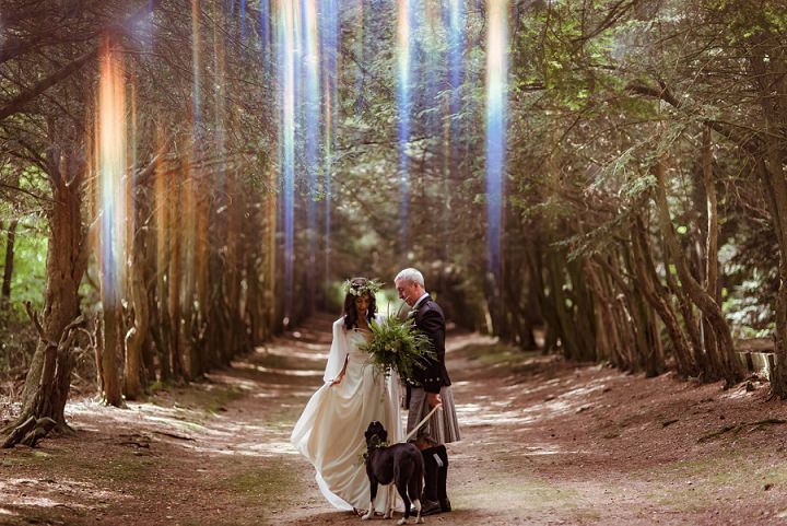 Ally and Dave's Woodland Pagan Wedding in the Scottish Borders by Mark Timm