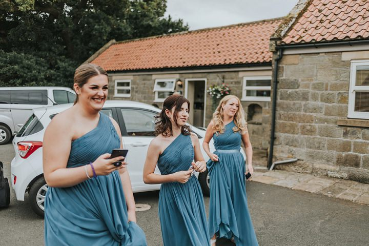 Debbie and Rachel's Rustic Danby Castle Wedding with a Brass Band and Fish and Chips by Nicola Mackrill