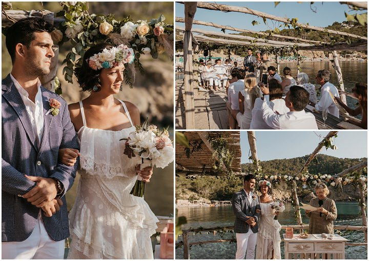 Maite and Ricardo's Natural and Relaxed Beach Side Ibiza Wedding by Sara Lobla