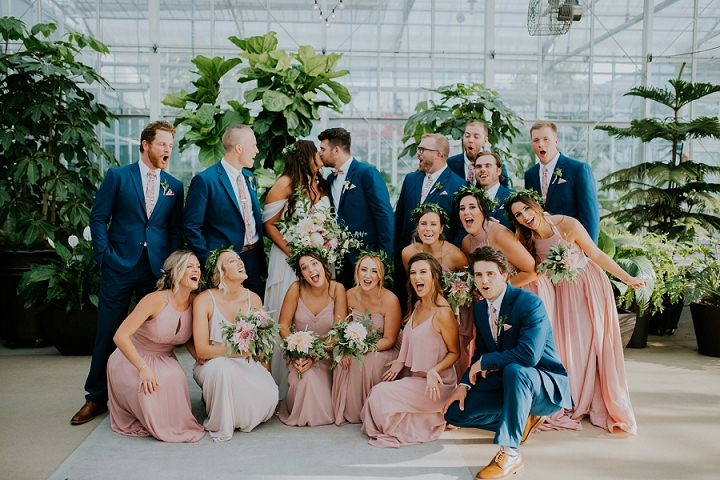 Lauren and Jacob's Stunning Greenhouse Wedding in Michigan by Apaige Photography