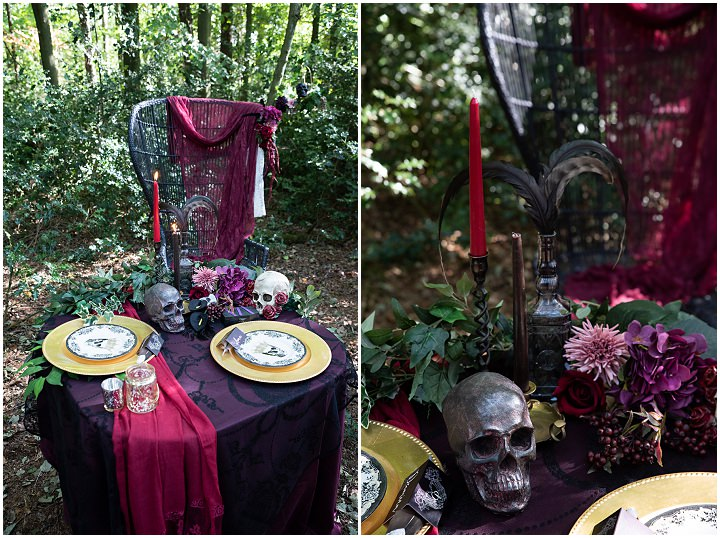 'Feathers and Skulls' - Gothic Wedding Inspiration for a Happy Halloween