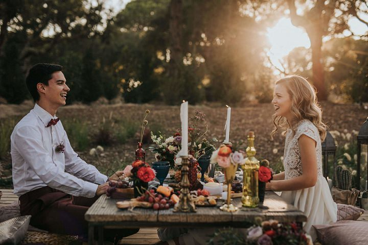 'Bohemian Beauty in Portugal' - An Intimate Moroccan Inspired Elopement Shoot - Boho Weddings For the Boho Luxe Bride