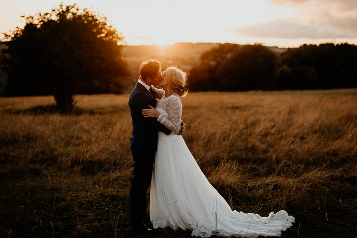 Joanna and Charlie's Grey, Blush and Burgundy Outdoor Rustic Boho Wedding in the Cotswolds by Jonny MP - Boho Weddings For the Boho Luxe Bride