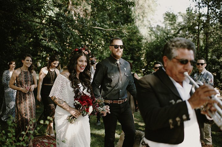 Lia and Jason's Mexican Inspired Gigantic Party Wedding in California by Kristen Marie