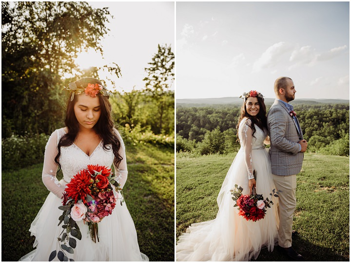 Brianna and Taylor's Intimate Outdoor Boho Inspired Wedding by Kylie Farmer