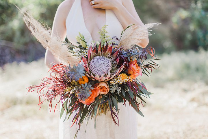 Boho Chic Coral and Teal California Desert Wedding Inspiration