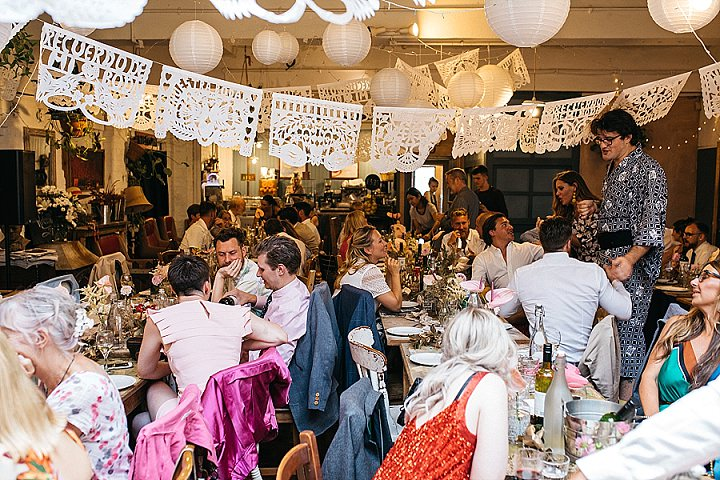 Lee and Ryan's 'Gold Sequins and Pink Flowers' Cool Hackney Wedding by Keepsake Wedding photography