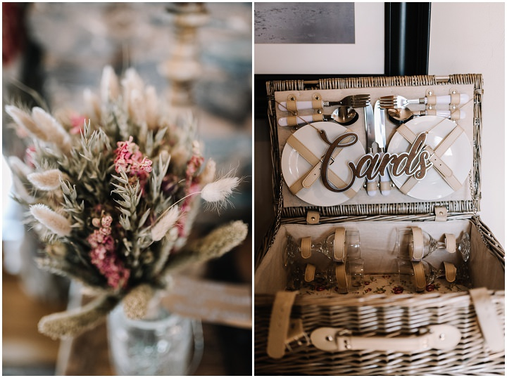 Jessica and Adam's Blush Pink English Country Wedding with Dried Flowers and Doughnutsby Oobaloos Photography