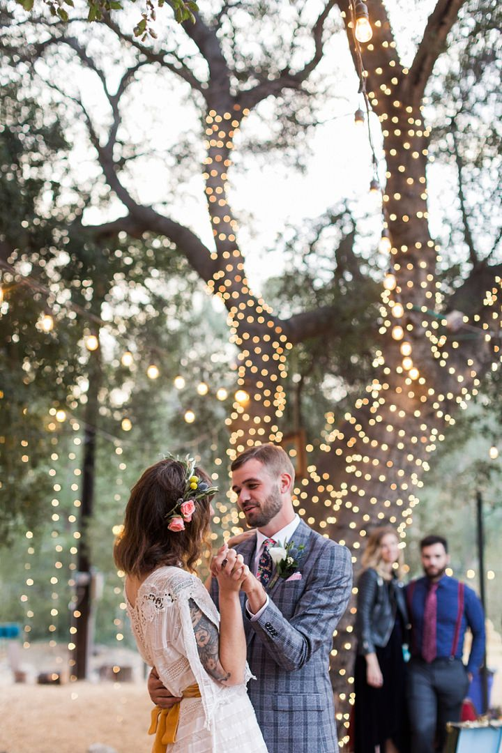 Cheryl and Jared's 'Wildflower Vintage' Eclectic California Ranch Wedding by Kaitie Brainerd Photography