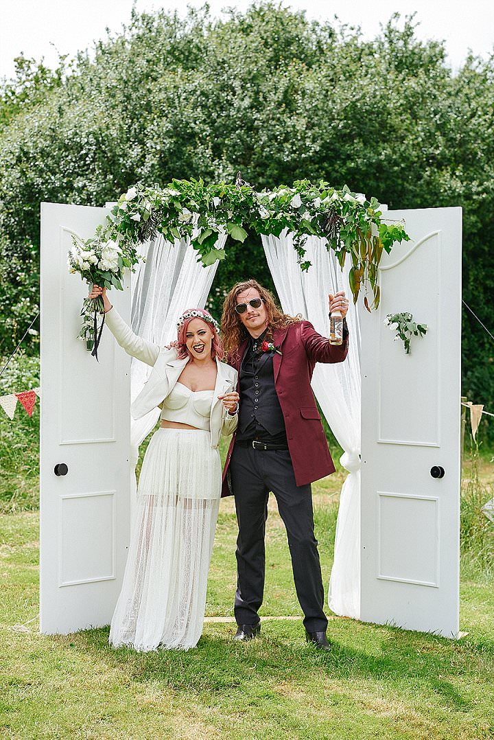 Kirsty and Ben's Rock n Roll Festival Themed Outdoor Wedding by Rose Images - Boho Weddings For the Boho Luxe Bride