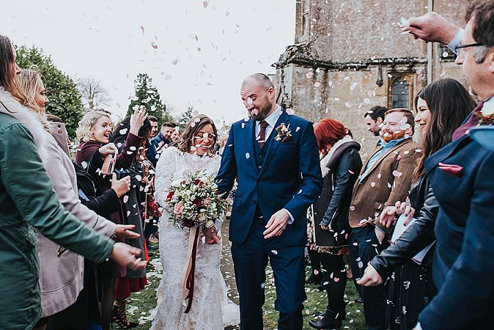 Chris and Emily's Christmas Barn Wedding in The Cotswolds by This and That Photography