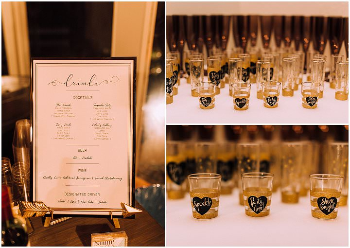 Tatiana and Colin's Modern Luxe New Years Eve Wedding by Hannah Kate Photography