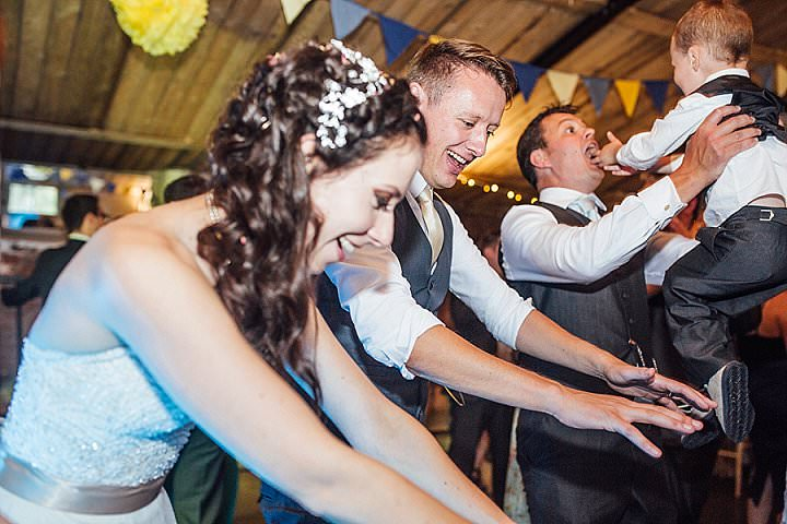 Charlotte and Tom's 'Sunflowers and Bouncy Castle' Music Loving Shrewsbury Wedding by Florence Fox