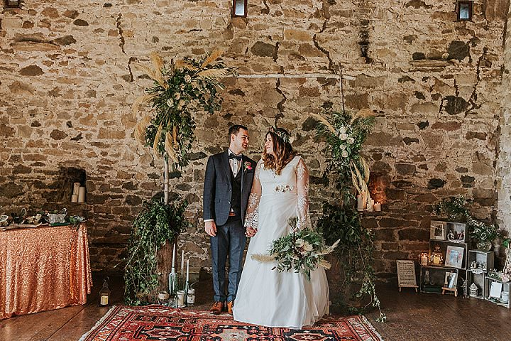 Rachelle and Kevin's Green and Copper 'Mish-Mash' DIY Wedding in Cumbria by Maddie Farris - Boho Weddings For the Boho Luxe Bride