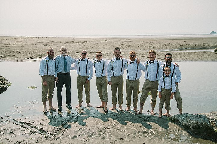 Veronica and Dustin's Free Spirited California Beach Wedding all Planned in a Month. By Gumgirl