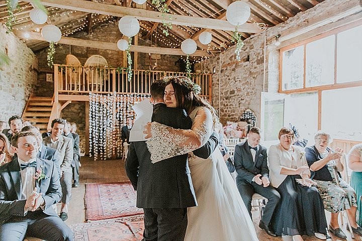 Rachelle andKevin's Green and Copper 'Mish-Mash'DIY Wedding in Cumbria by Maddie Farris