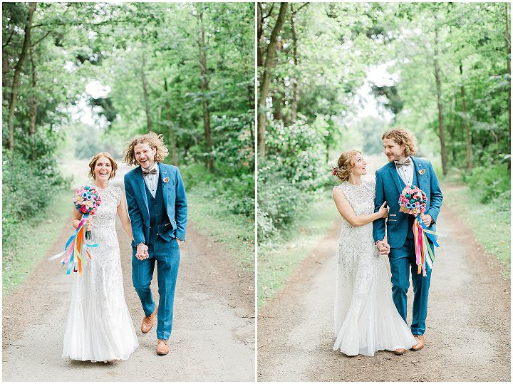 Helen and Jonny's Bright and Beautiful Vegan Camp Wedding in North Yorkshireby Carn Patrick