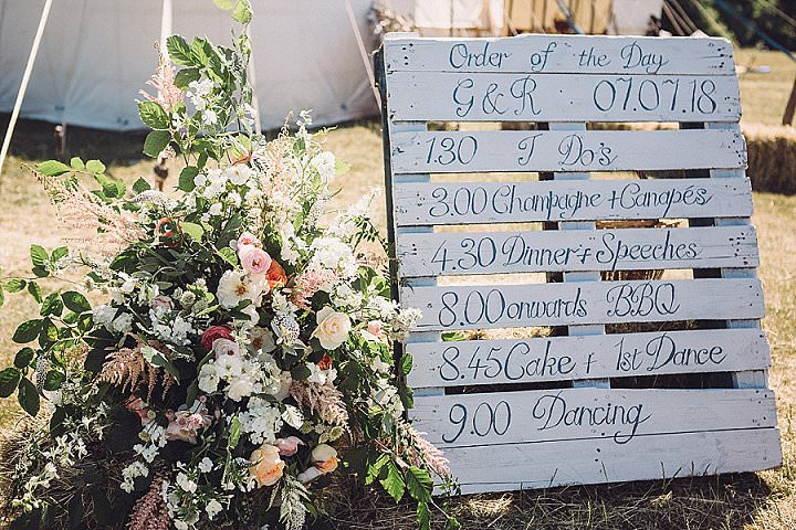 Rosy and George's 'Home Grown' Rustic Feasting Farm Wedding in Devon by Jennifer Jane Photography