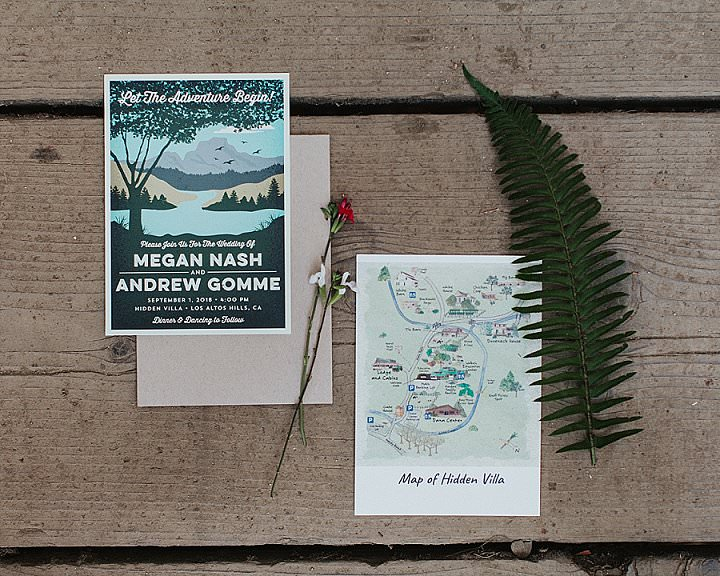 Megan and Andrew'sEffortless Outdoorsy Casual California Wedding by Alexandra Wallace